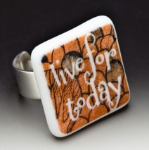 "#61 Gustav Klimt ""Live for Today"" Ring"