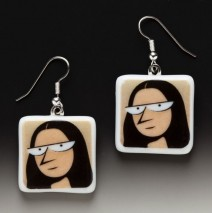 "#61 Mona Lisa ""Batwing"" Earrings"