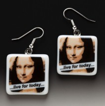"#61 Mona Lisa ""Live for Today"" Earrings"