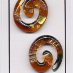 Earrings- Amber spiral