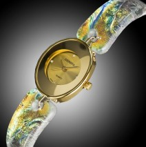 #10 Crystal and Gold Watch