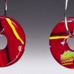 #60 Cherry Red Earrings