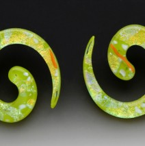Lime Spiral Earrings
