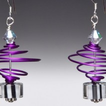 Grape Swirl Satellite Earrings