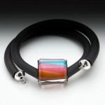 Rubber Bracelet – Pink/Orange/Aqua