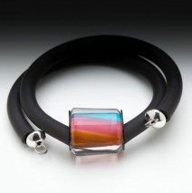 Rubber Bracelet – Pink/Orange/Aqua