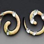 Spiral_Stud_Earrings-_Gold_Stilver_Leaf