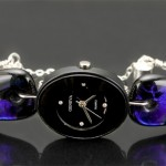 #05 Black Oval Watch – Purple and Black Band