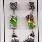 chicklet earrings lime
